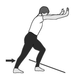 Stretching del polpaccio e del piede per la fascite plantare